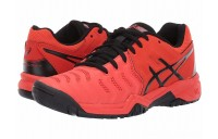 BLACK FRIDAY SALE ASICS Kids GEL-Resolution® 7 GS Tennis (Little Kid/Big Kid) Cherry Tomato/Black