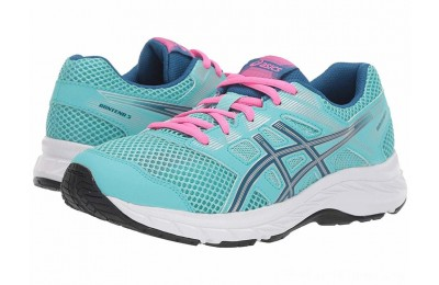 SALE ASICS Kids Gel-Contend 5 (Big Kid) Ice Mint/Deep Sapphire
