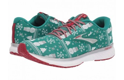 BLACK FRIDAY SALE Brooks Revel 3 Green/Red/Silver