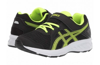SALE ASICS Kids Jolt 2 PS (Toddler/Little Kid) Black/Safety Yellow