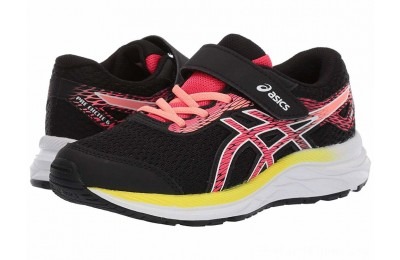 BLACK FRIDAY SALE ASICS Kids Gel-Excite 6 (Toddler/Little Kid) Black/Laser Pink
