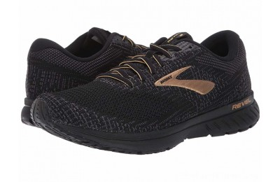 SALE Brooks Revel 3 Black/Ebony/Gold