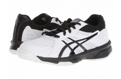 BLACK FRIDAY SALE ASICS Kids Upcourt 3 Volleyball (Little Kid/Big Kid) White/Black
