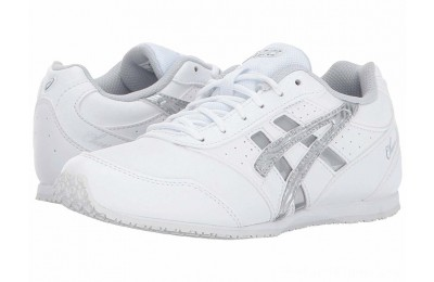 BLACK FRIDAY SALE ASICS Kids Cheer 8 GS (Toddler/Little Kid) White/Silver/Interchange