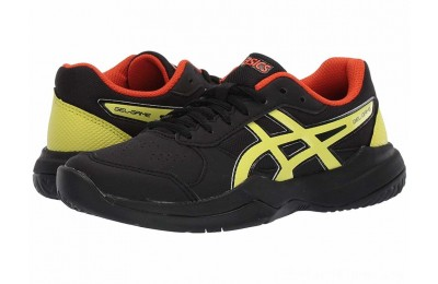 BLACK FRIDAY SALE ASICS Kids Gel-Game 7 GS Tennis (Little Kid/Big Kid) Black/Sour Yuzu