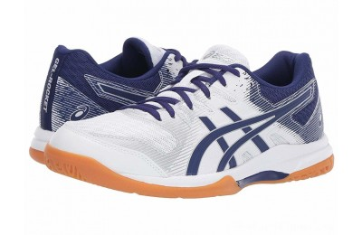 SALE ASICS GEL-Rocket® 9 White/Dive Blue