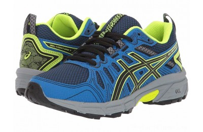 BLACK FRIDAY SALE ASICS Kids GEL-Venture 7 (Little Kid/Big Kid) Black/Safety Yellow