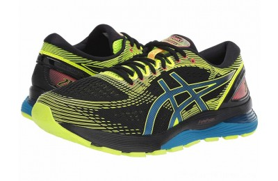 SALE ASICS GEL-Nimbus® 21 Black/Safety Yellow