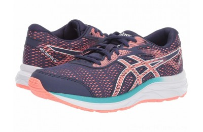 BLACK FRIDAY SALE ASICS Kids Gel-Excite 6 (Little Kid/Big Kid) Purple Matte/Sun