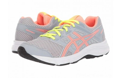 SALE ASICS Kids Gel-Contend 5 (Big Kid) Piedmont Grey/Sun Coral