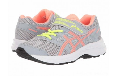 SALE ASICS Kids Gel-Contend 5 (Toddler/Little Kid) Piedmont Grey/Sun Coral