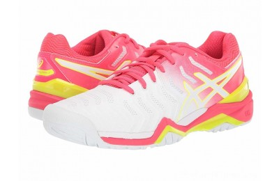 SALE ASICS Gel-Resolution 7 White/Laser Pink