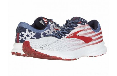 Sales - Brooks Launch 6 White/Blue/Red