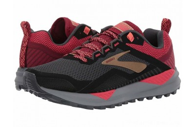 SALE Brooks Cascadia 14 Black/Rumba Red/Coral