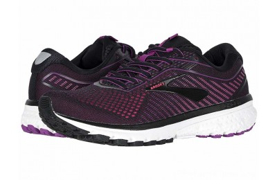 Sales - Brooks Ghost 12 Black/Hollyhock/Pink