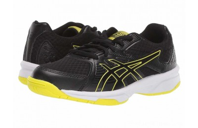 BLACK FRIDAY SALE ASICS Kids Upcourt 3 Volleyball (Little Kid/Big Kid) Black/Sour Yuzu