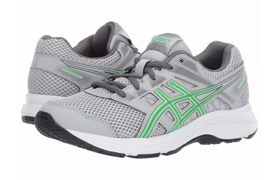 SALE ASICS Kids Gel-Contend 5 GS (Big Kid) Mid Grey/New Leaf