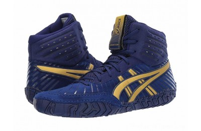 SALE ASICS Aggressor 4 Dive Blue/Rich Gold