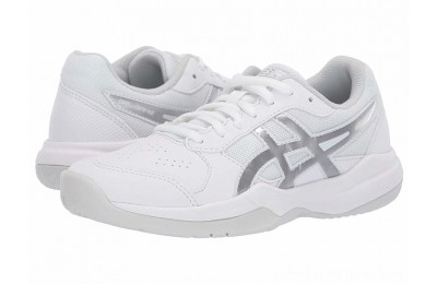 SALE ASICS Kids Gel-Game 7 GS Tennis (Little Kid/Big Kid) White/Silver