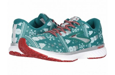 SALE Brooks Revel 3 Green/Red/Metallic Silver