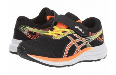 BLACK FRIDAY SALE ASICS Kids Gel-Excite 6 (Toddler/Little Kid) Black/Shocking Orange