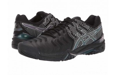 SALE ASICS Gel-Resolution 7 Black/Silver 2