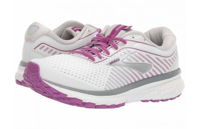 Sales - Brooks Ghost 12 White/Grey/Hollyhock