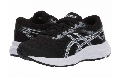 SALE ASICS Kids Gel-Excite 6 (Little Kid/Big Kid) Black/White