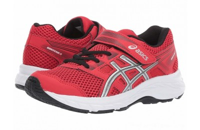 BLACK FRIDAY SALE ASICS Kids Gel-Contend PS (Toddler/Little Kid) Classic Red/Silver