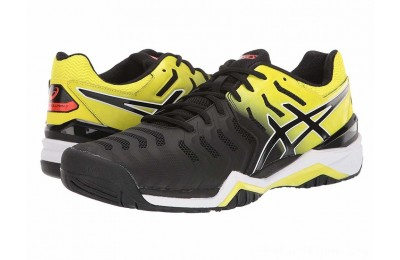 Sales - ASICS Gel-Resolution 7 Black/Sour Yuzu