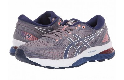 SALE ASICS GEL-Nimbus® 21 Lavender Grey/Dive Blue