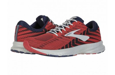 Sales - Brooks Launch 6 Cherry/Navy/Grey