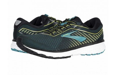 Sales - Brooks Ghost 12 Black/Lime/Blue Grass