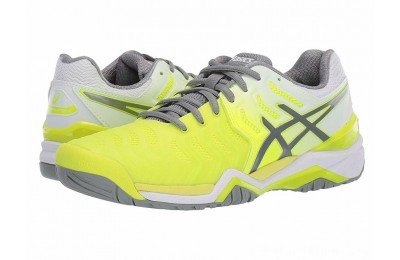 SALE ASICS Gel-Resolution 7 Safety Yellow/Stone Grey