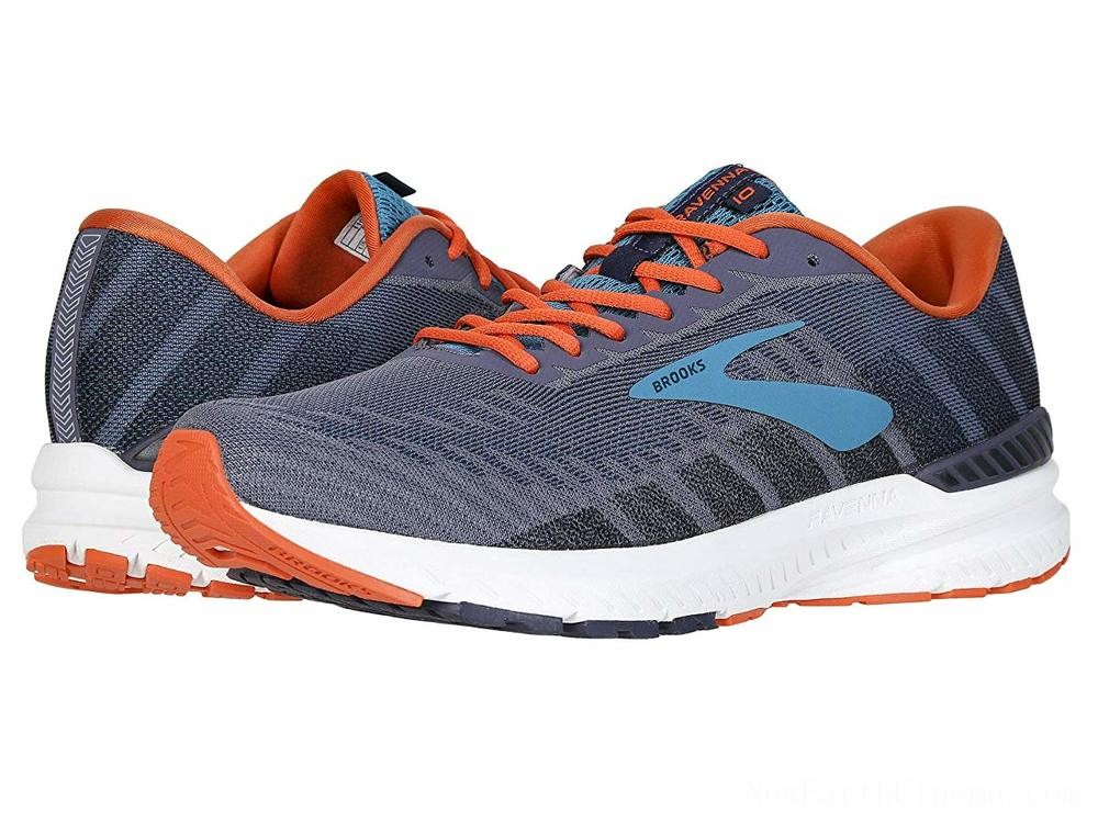SALE Brooks Ravenna 10 Ebony/Navy/Mandarin