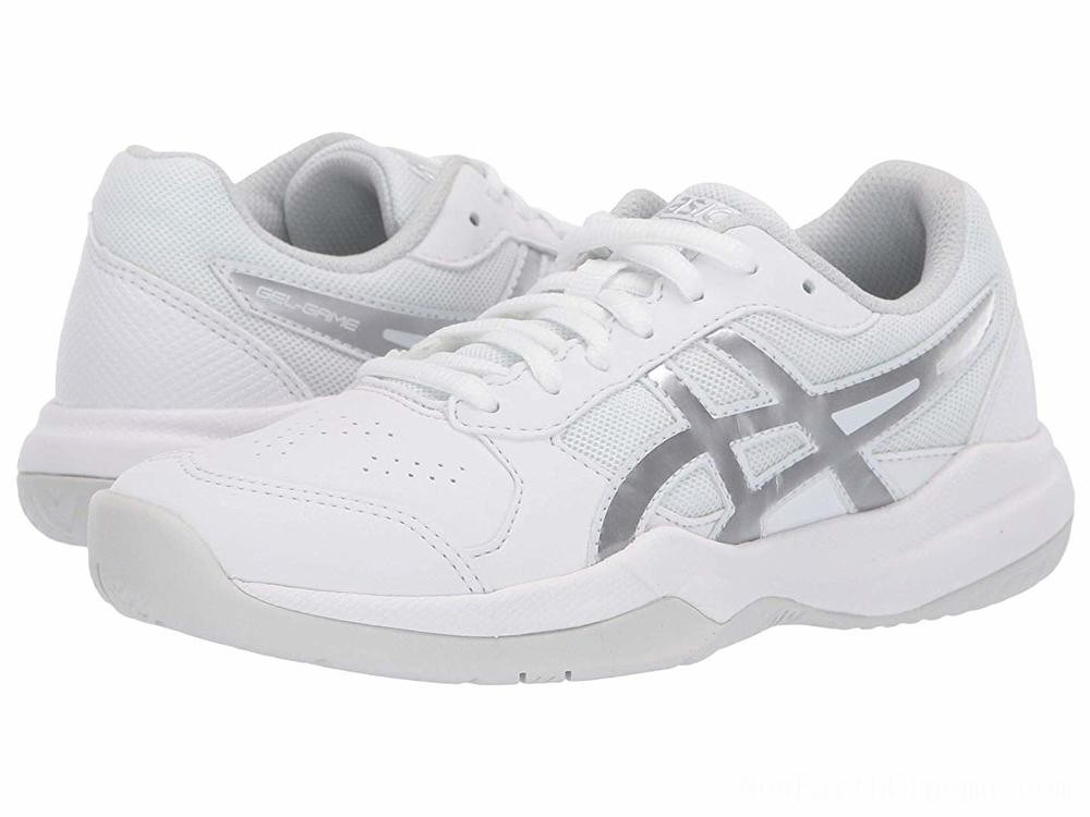 Sales - ASICS Kids Gel-Game 7 GS Tennis (Little Kid/Big Kid) White/Silver