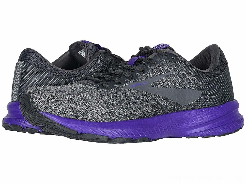 SALE Brooks Launch 6 Ebony/Shark/Violet