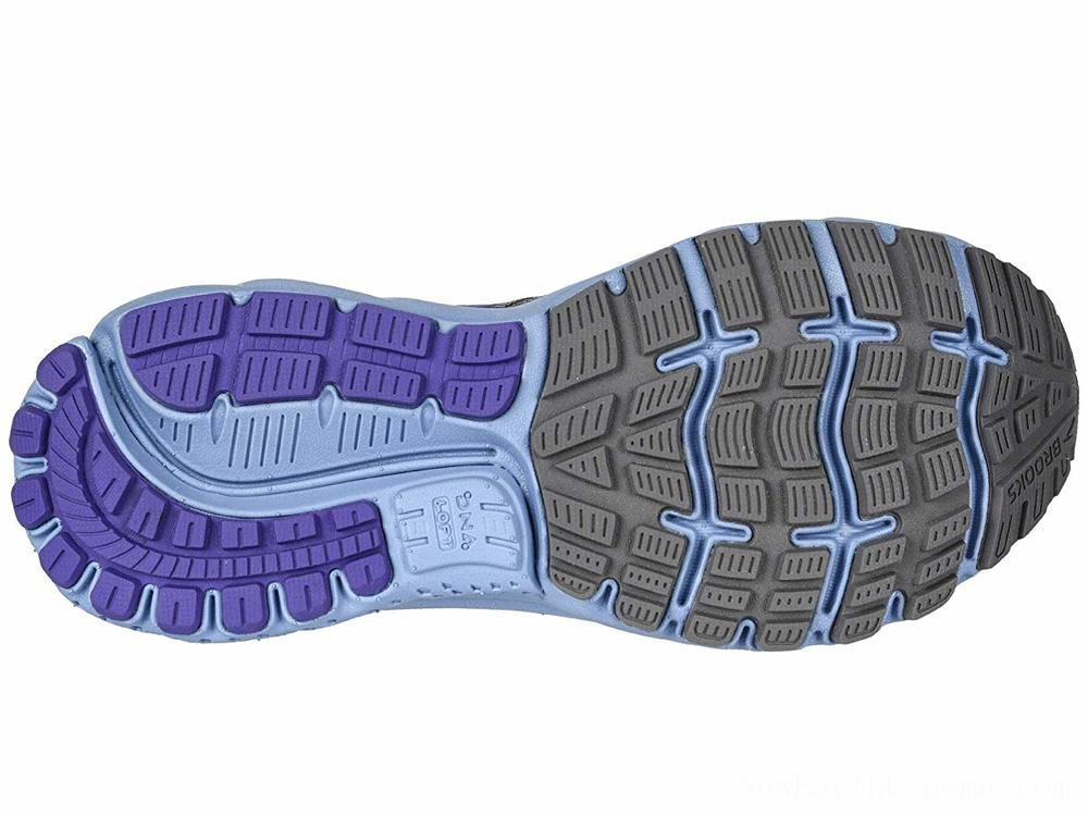 Sales - Brooks Ghost 12 Shark/Violet/Bel Air Blue