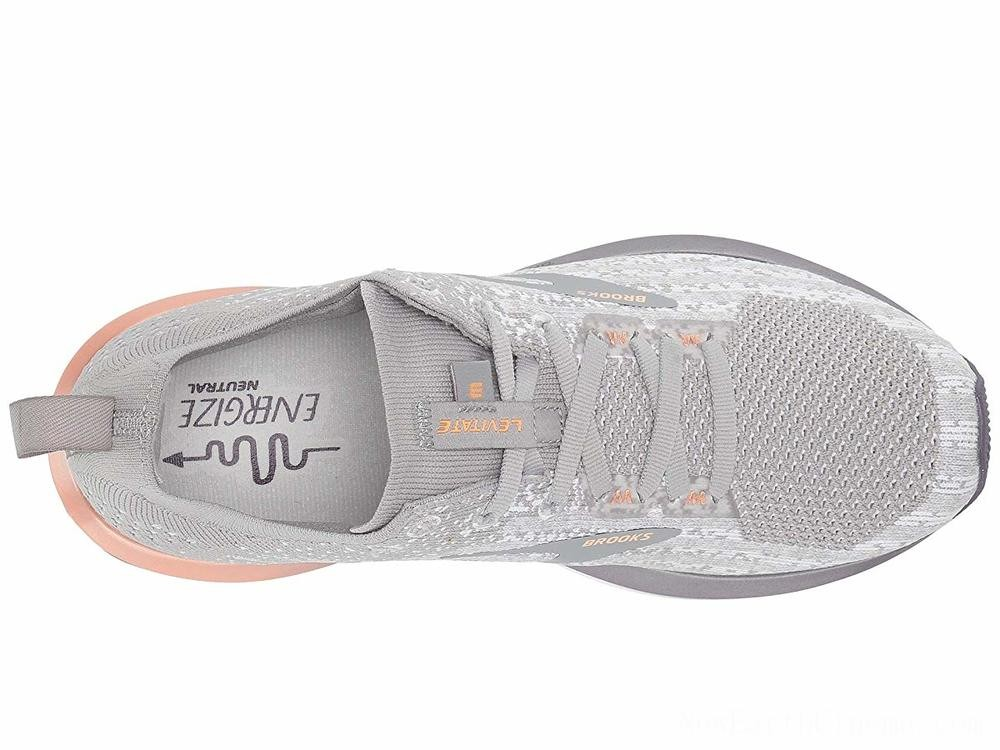 Sales - Brooks Levitate 3 White/Purple/Cantaloupe