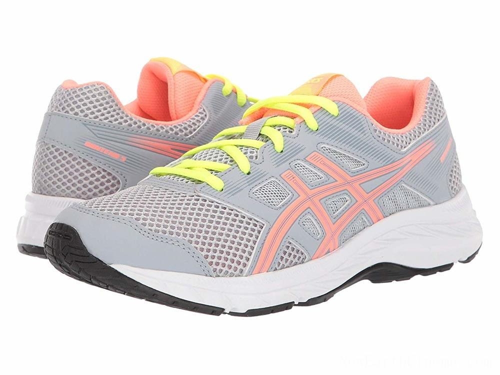 Sales - ASICS Kids Gel-Contend 5 (Big Kid) Piedmont Grey/Sun Coral