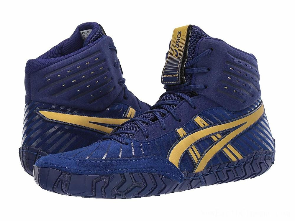 Sales - ASICS Aggressor 4 Dive Blue/Rich Gold