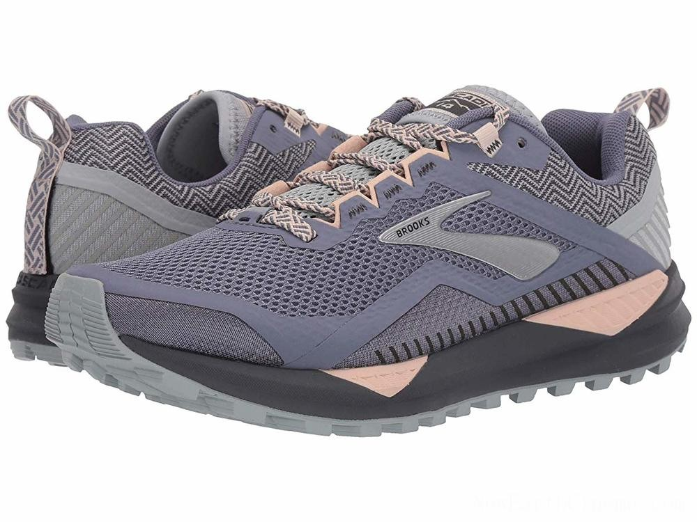 Sales - Brooks Cascadia 14 Grey/Pale Peach/Pearl