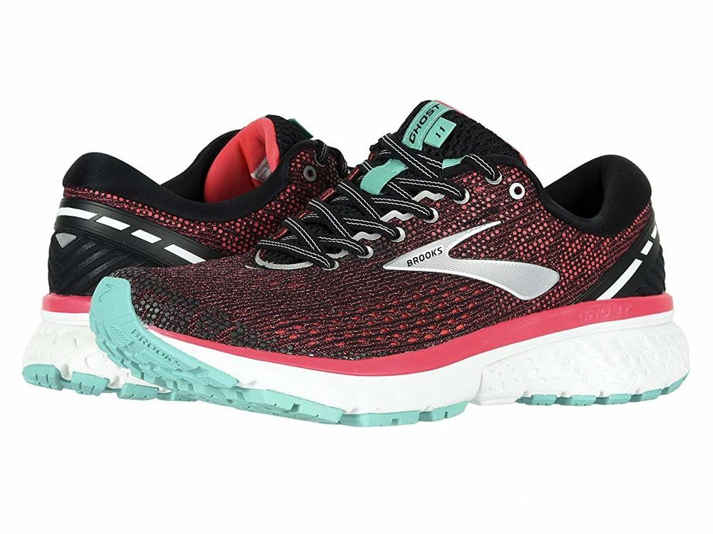 Sales - Brooks Ghost 11 Black/Pink/Aqua