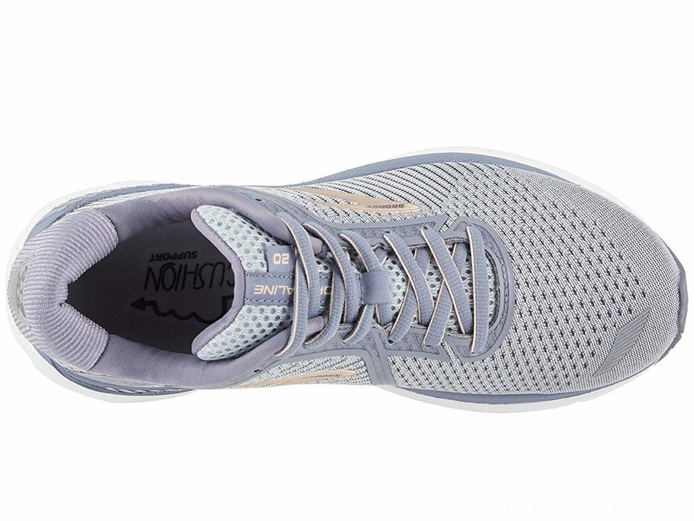 Sales - Brooks Adrenaline GTS 20 Grey/Pale Peach/White