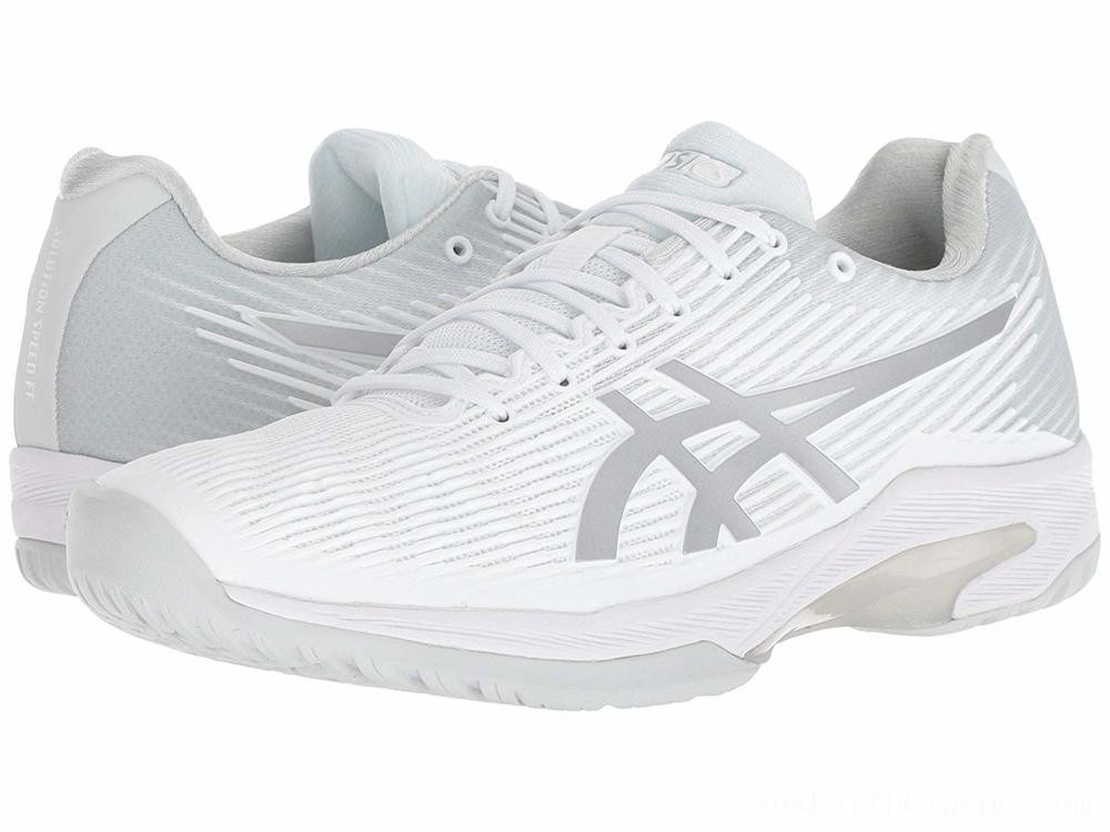 SALE ASICS Solution Speed FF White/Silver